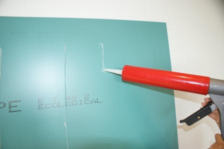 Montering af glasplade